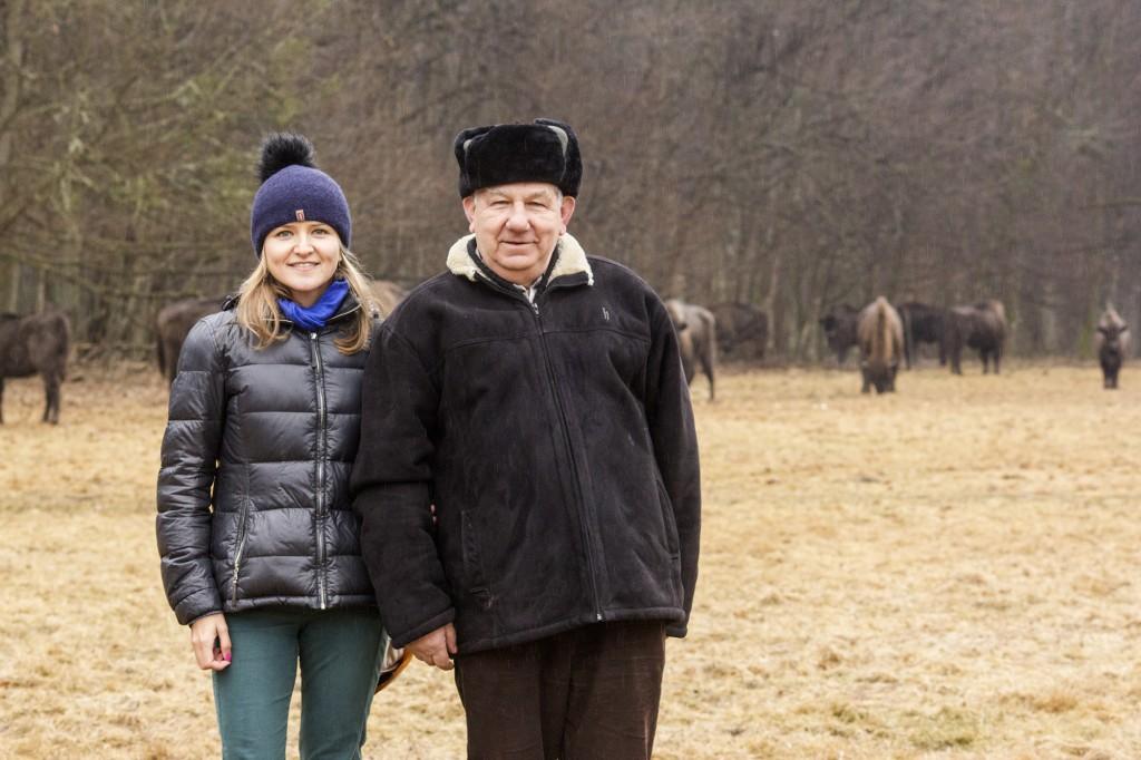 Ja, Pan Sergiusz i stado znajomych w Puszczy Białowieskiej